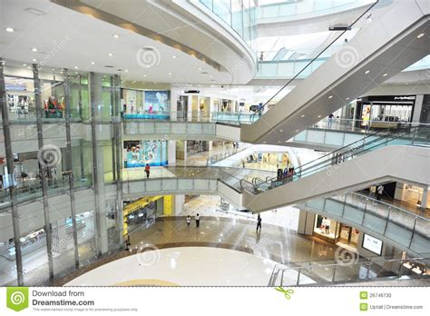 multilevel shopping mall interior editorial image image