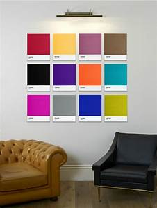 Contemporary wall art from pantone walls and