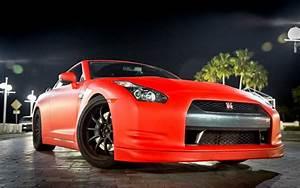 Nissan, Gtr, Matte, Red, Wallpaper