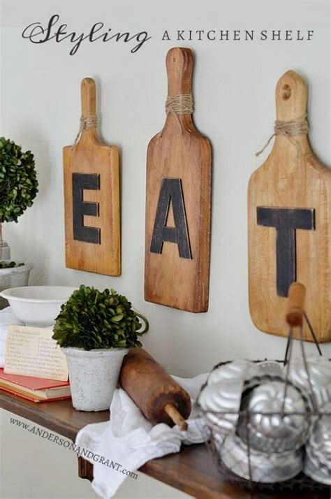 Eat metal and wood cutting board wall decor   world market. 20 Gorgeous Kitchen Wall Decor Ideas to Stir Up Your Blank Walls - The ART in LIFE