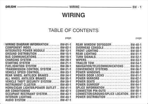 Dodge Ram Truck Wiring Diagram Manual Original