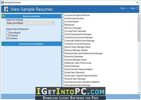 resumemaker professional deluxe 20 1 0 120 free