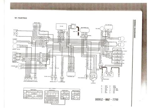 86 honda trx 250 wiring diagram wiring diagram and schematic