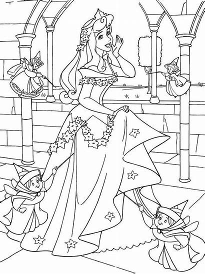 Coloring Beauty Sleeping Pages Printable