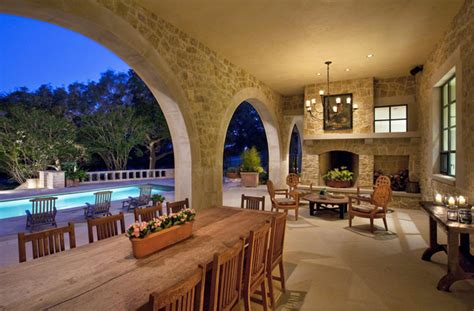 outdoor loggia traditional patio austin  chas