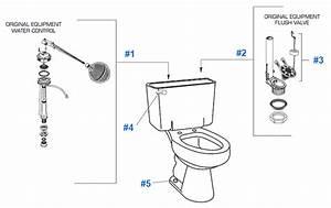 Cadet Series 2616 Toilet Repair Parts Diagram