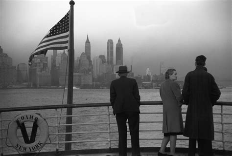 German U Boat Manhattan by Lower Manhattan Seen From The Ss Coamo New York City