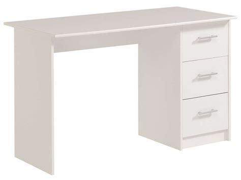 bureau simple pas cher bureau 3 tiroirs infinity coloris blanc vente de bureau