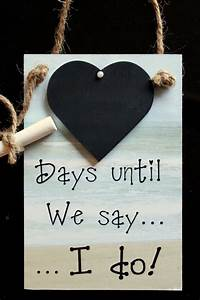 engagement gift idea wedding chalkboard countdown quotdays With wedding countdown gifts for bride