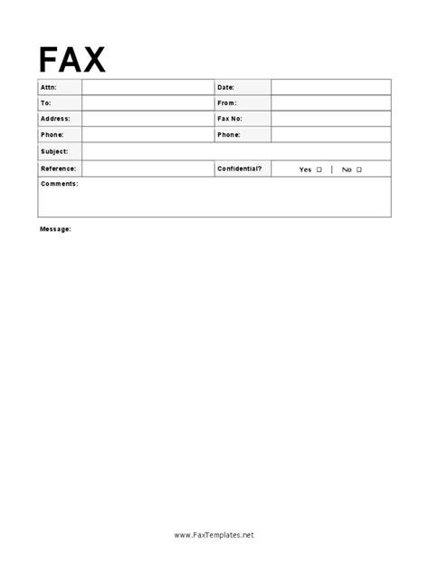 modern fax cover sheet fillable printable