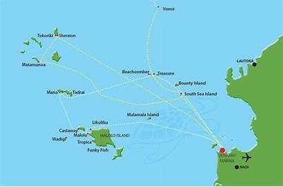 Fiji Island South Resort Sea Map Cruises
