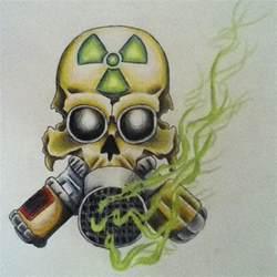 Skull Gas Mask Tattoo Drawing