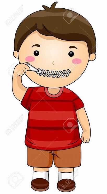 Clipart Silence Quiet Mouth Clip Boy Shhh