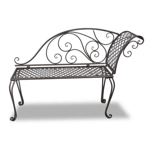 chaise metal vintage vidaxl co uk vidaxl metal garden chaise lounge antique