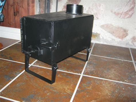 ice shack shanty wood stove woodworking projects plans
