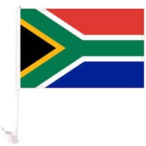 Car South Africa Flag