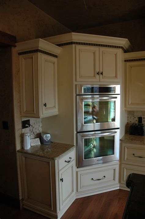 kitchen cabinet for wall oven corner oven kitchen traditional with built in corner oven