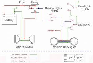 How To Wire Spotlights Into High Beam Diagrams