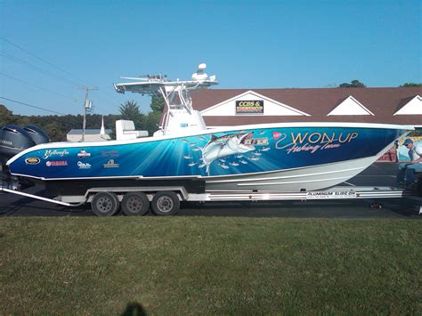 Fishing Boat Wrap Pics by Team Won Up S New Wrap The Hull Truth Boating And
