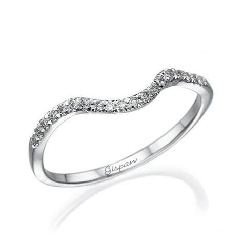 curved wedding ring eternity ring wedding set ring
