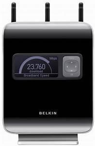 Belkin Router Login Belkin N1 Vision Router Displays Speed And Bandwidth
