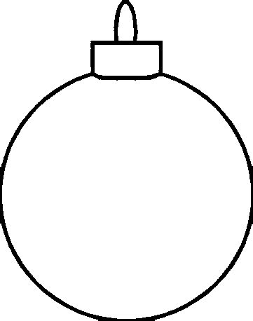 christmas ornament outlines printable ornament black and white clipart