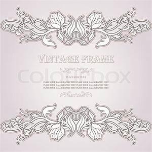 Verspielter Floraler Design Stil : vintage hintergrund eleganz antiker viktorianische floral ornament barocken rahmen sch ne ~ Watch28wear.com Haus und Dekorationen