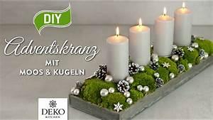 Adventskranz Länglich Selber Machen : diy l nglicher adventskranz mit moos kugeln how to deko kitchen youtube ~ Eleganceandgraceweddings.com Haus und Dekorationen