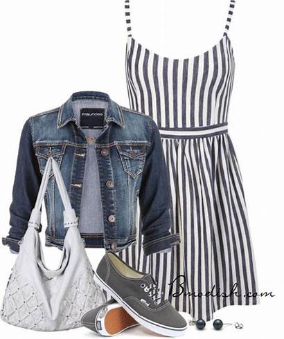 Outfits Casual Polyvore Spring Striped Summer