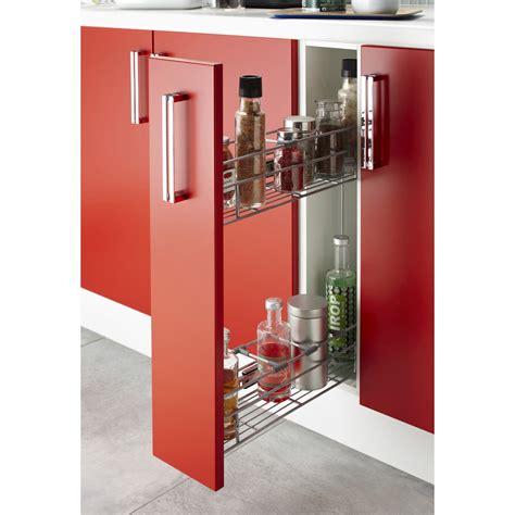 meuble haut cuisine porte coulissante panier coulissant epices pour meuble l 15 cm leroy merlin