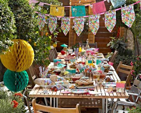 decoration garden party en  idees originales pour lete