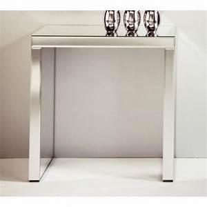 Petite Table Bureau : keops table console en verre miroir petit mod le achat vente console meuble pas cher couleur ~ Teatrodelosmanantiales.com Idées de Décoration
