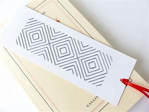 Marque Page En Papier : marque page brod main motif g om trique gris accessoire maison article en papier papeterie ~ Melissatoandfro.com Idées de Décoration