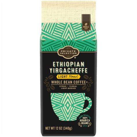 Ethiopian yirgacheffes are spicy and fragrant, and are frequently reviewed and rated as some of the highest quality arabica coffees in the world. Kroger - Private Selection® Ethiopian Yirgacheffe Light Roast Whole Bean Coffee, 12 oz