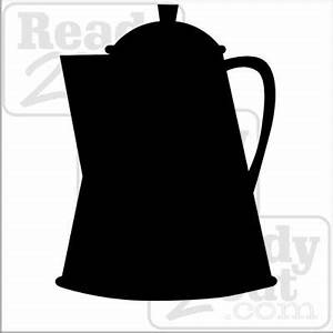 Coffee pot silhouette art vector