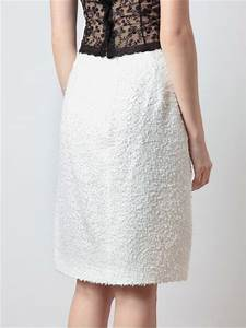 Simone Rocha Tweed and Lace Pencil Skirt in White   Lyst