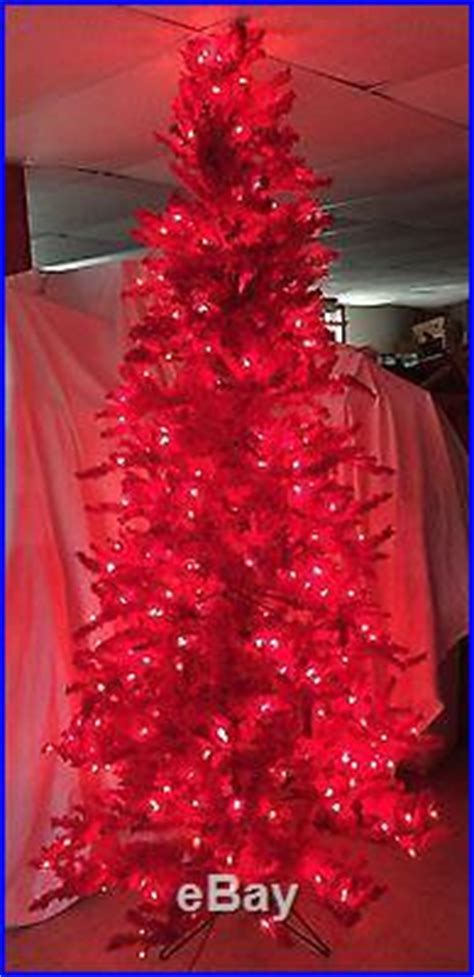 flocked red fir artificial holiday christmas tree