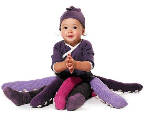 faschingskostueme kinder babys oktopoden lila kostueme