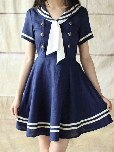 sailor collar a line dress sailor dress 39 s oasis fashion
