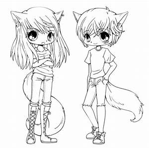 Cute Anime Chibi Girls Coloring Pages | Just print ...