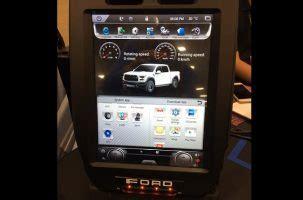 radios bring  tesla style screen   truck