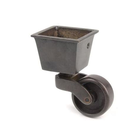 Restorers Solid Brass Square Cup Caster Van S