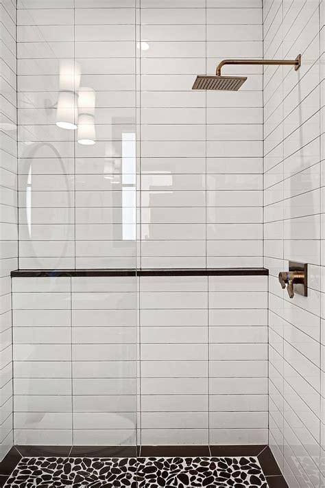 shower tile  white subway tile   horizontal stack