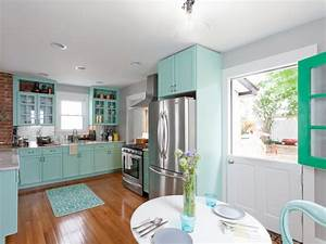 photo page hgtv With kitchen colors with white cabinets with seafoam green wall art
