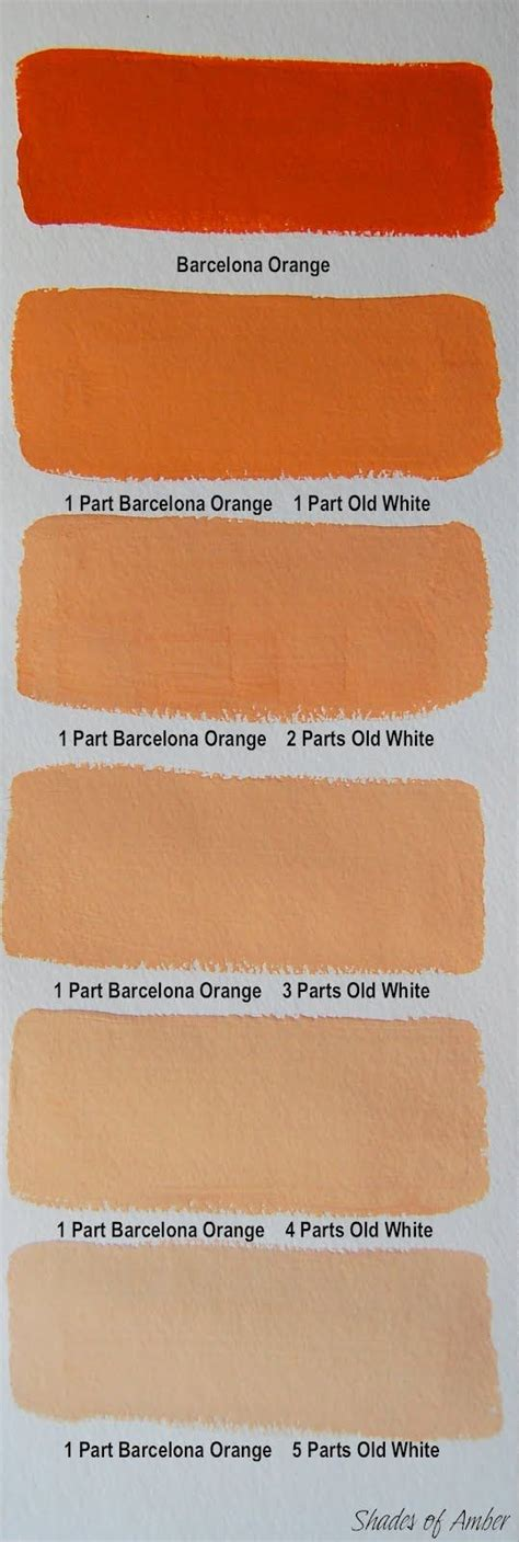 shades of amber chalk paint color theory barcelona o