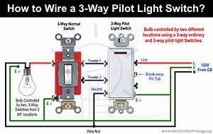 How To Wire A Pilot Light Switch  2 And 3 Way Wiring