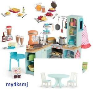american doll kitchen table american gourmet kitchen set for doll dining table