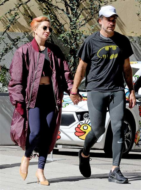 lady gaga exercises  heels mother monster debuts multicolored hair  bf christian carino