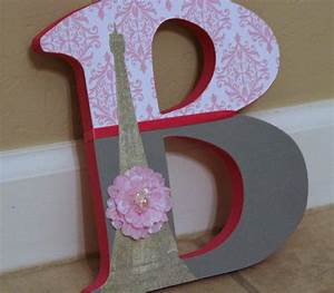 paris theme custom designed 75 wood letters by With baby shower wooden letters