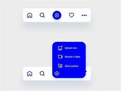 Navigation Bar App Mobile Dribbble Exploration Ui